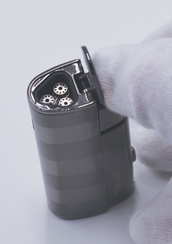 Sikaro Hurricane Triple Torch Lighter w/cigar punch 06-06-201 Shiny silver / chrome