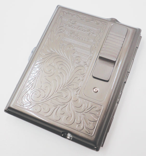 Legendex Elegance Metal Cigarette / Mini Cigar Case Built-In Turbo Windproof Lighter 06-30-105 Arabesque / Gunmetal