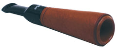 Bigben Briar Cigar Holder Non Filter 079.700.140 Light Brown Genuine Leather Finish