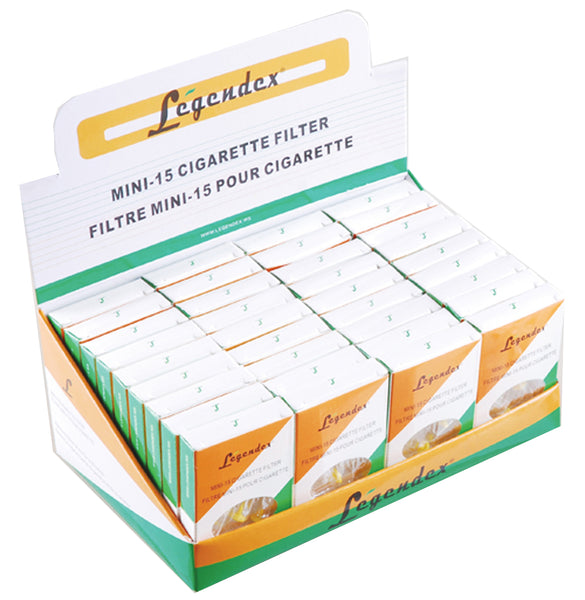 Legendex Cigarette Holder Mini 15, 10-01-002 Box of 36 Packs of 15 MiniFilters (540 Filters)