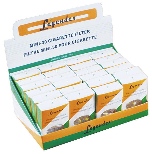 Legendex Cigarette Holder Mini 30, 10-01-003 Box of 24 Packs of 30 MiniFilters (720 Filters)