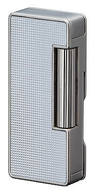 Sarome Flint Pipe Lighter w/pipe tools PSD37-03 Silver lattice alumite