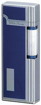 Sarome SD9W-04 Flint Lighter Chrome Satin/Blue