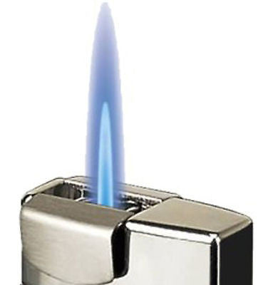 Sikaro Lancer Torch Lighter 06-01-202 Shiny Black Nickel / Shiny White Nickel
