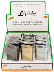 Legendex Picnicker Twin Torch Lighter Silver satin 06-50-601