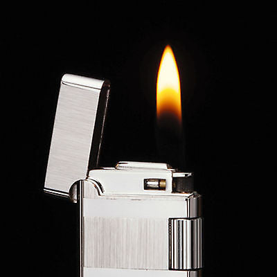 Sarome Flint Cigarette Lighter w/Double roller SD40-05 Silver hairline