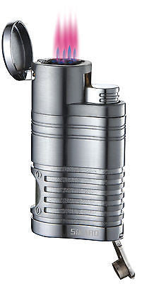 Sikaro Tornado Quad Torch Lighter 06-07-103 Chrome satin w/cigar punch