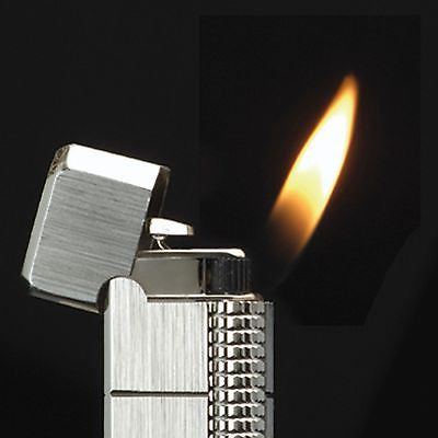 Sarome Flint Pipe Lighter PSD36-01 Silver hairline/diamond cut