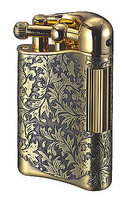 Sarome Flint Lighter for Pipe PSD12-11 / Antique brass arabesque