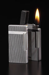Sarome SD6A-03 Silver / Black carbon fiber Flint Lighter