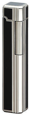 Sarome Flint Pipe Lighter PSD36-05 Silver / Diamond cut 4-side black