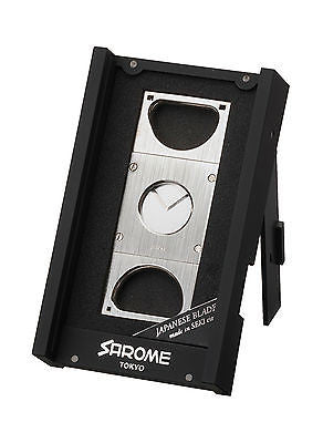 Sarome Metal Cigar Cutter EXCT1-02 Black nickel hairline