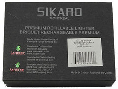 Sikaro Raptor Twin Torch Lighter 06-05-303 Shiny titanium