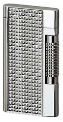 Sarome Flint Lighter SD7-09 Silver lattice diamond cut