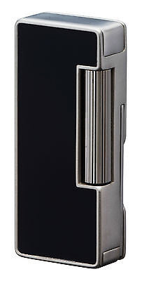 Sarome Flint Pipe Lighter w/pipe tools PSD37-02 Black Polished alumite
