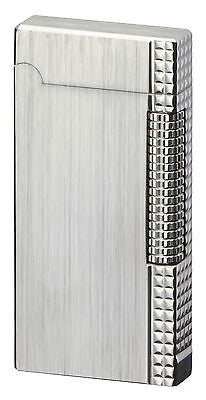 Sarome Flint Lighter SD6-14 Silver hairline / Lattice diamond cut