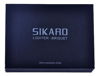 Sikaro Mechformers Twin Torch Lighter 06-05-203 Shiny Titanium
