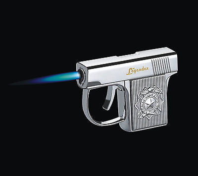 Legendex Gunner Torch Lighter 06-50-101 Silver satin