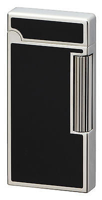 Sarome Flint Lighter SD6-15 Silver / Black epoxy resin