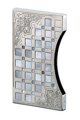 Sarome Business Card Case EXNA1-02 Sterling Silver Arabesque / Mother-of-Pearl