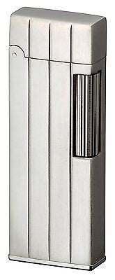 Sarome SD9-24 Flint Lighter Silver satin vertical diamond cut