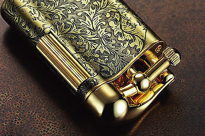Sarome Flint Lighter for Pipe PSD12-29 Antique black arabesque / Rose gold