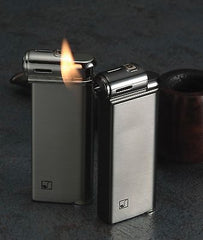 Sarome Piezo Pipe Lighter PSP-13 Silver super satin with pipe designs (Silver)
