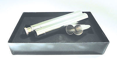 Legendex cigar holder sS/S for one churchill cigar w/hip flask 05-03-300