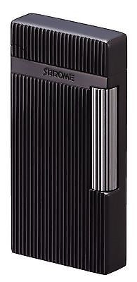 Sarome Flint Lighter SD6-18 Black nickel hairline / diamond cut