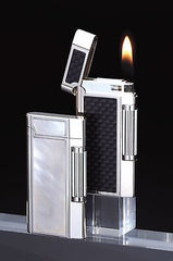 Sarome Flint Lighter SD7-15 Silver Satin / Silver polish