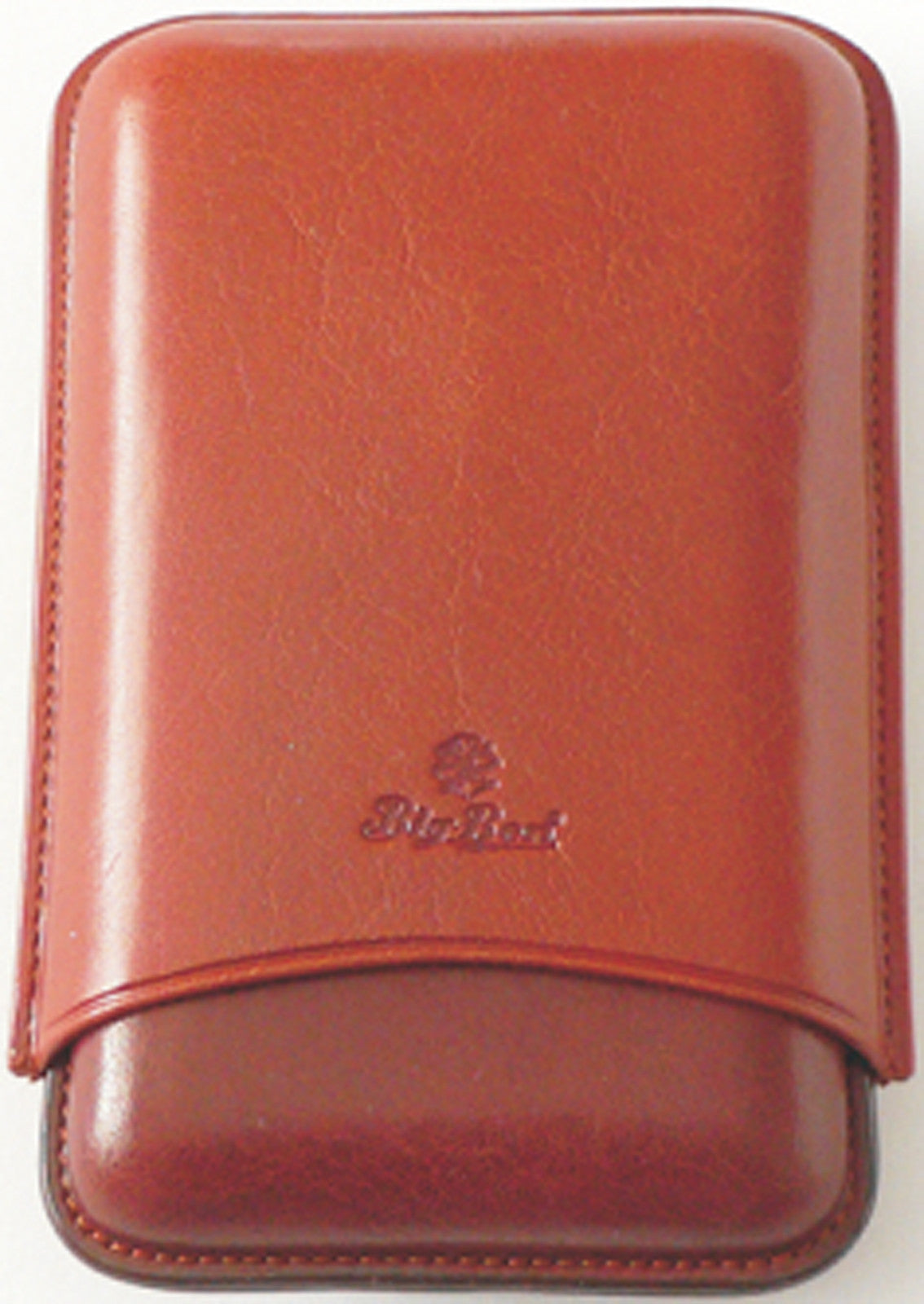 BigBen genuine leather cigar case 3 robusto 125 mm tan-tob 656.121.355