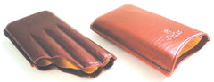 BigBen genuine leather cigar case 4 senoritas 115 mm tan-tob 656.454.455