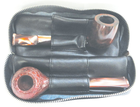 BigBen genuine leather pouch for 2 pipes & tobacco combination 743.221.220