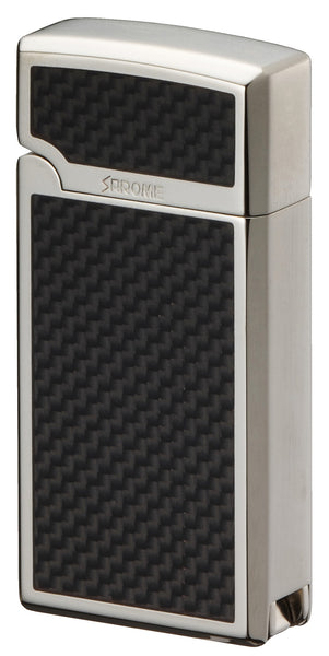 Sarome Torch  Cigar Lighter w/ Cigar Punch BM15A-02 Silver / Carbon fiber