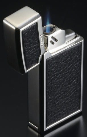 Sarome Torch  Cigar Lighter w/ Cigar Punch BM15A-06 Silver carbon fiber pattern