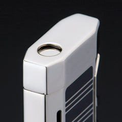 Sarome Torch Lighter BM5-04 Silver/black epoxy resin inlaid