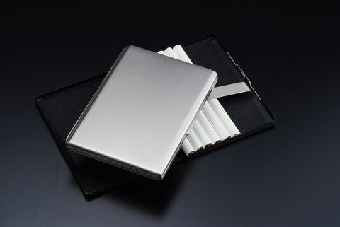 Sarome Metal Cigarette Case EXCC5-02 Black nickel satin