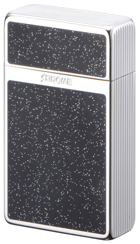 Sarome Mini Triple Torch  Cigar Cigarette Lighter BM15B-03 Silver/Diamond cut/ Black epoxy resin glitter