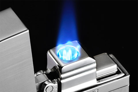 Sarome Mini Triple Torch  Cigar Cigarette Lighter BM15B-04 Light gray/Dimple/ Carbon fiber