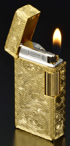 Sarome Flint Cigarette Lighter SD1-53 Silver / Random cross hairline / Shiny cut