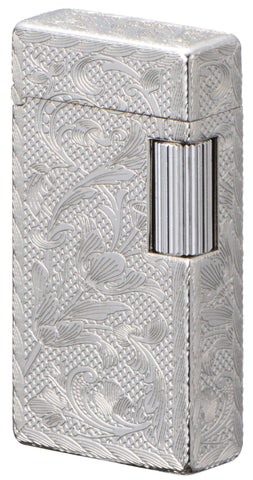 Sarome Flint Cigarette Lighter Sterling Silver / 5-side arabesque SD1-55