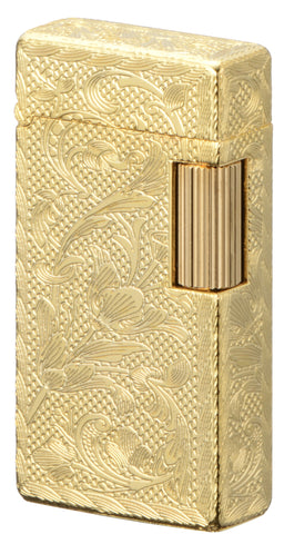 Sarome Flint Cigarette Lighter Gold 0.2μ / 5-side arabesque SD1-56