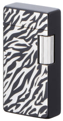 Sarome Flint Cigarette Lighter SD1-58 Black zebra pattern