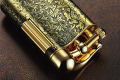 Sarome Flint Cigarette Lighter SD12-12 Antique silver arabesque
