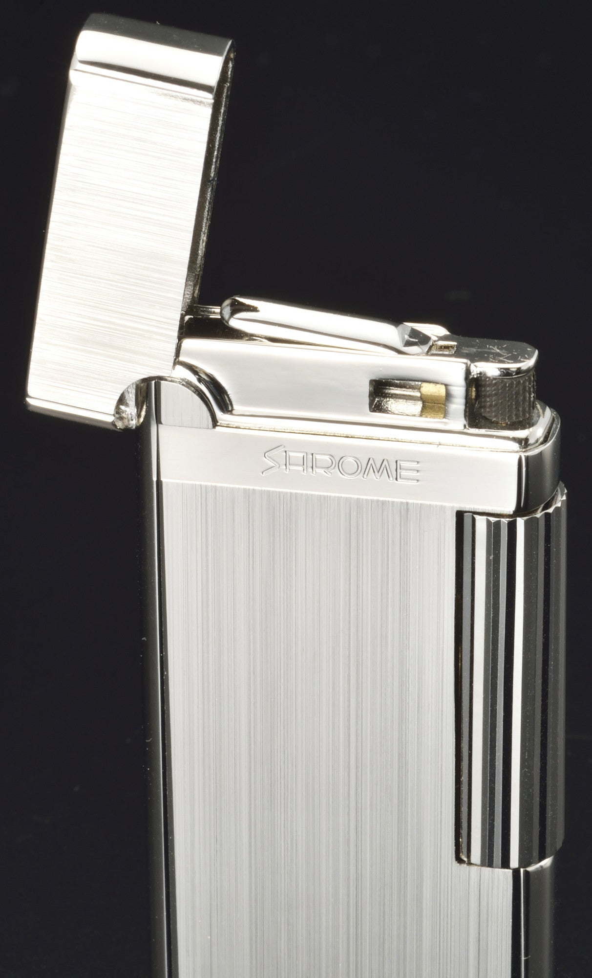 Sarome Flint Cigarette Lighter SD43-02 Light gray hairline