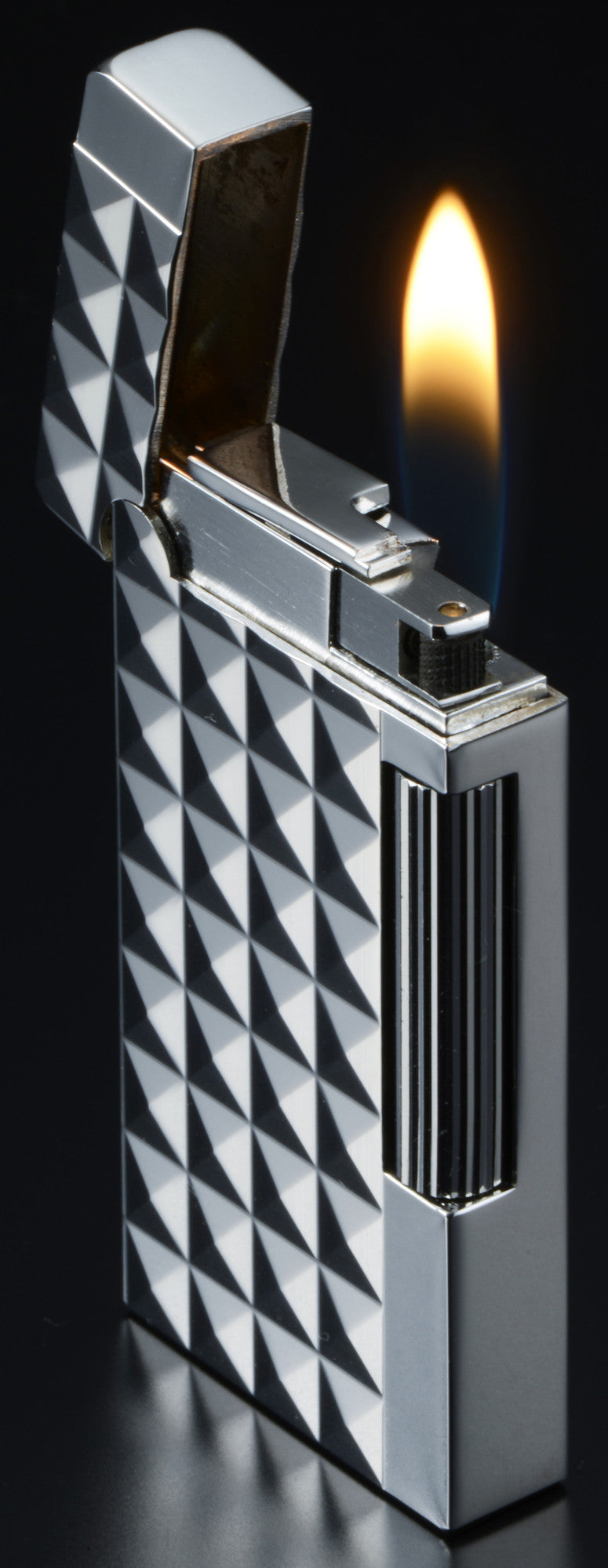 Sarome Flint Cigarette Cigar Lighter SD6A-07 Silver / Diamond head
