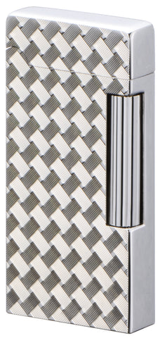 Sarome Flint Cigarette Cigar Lighter SD6A-11 Silver/ Wire mesh diamond cut