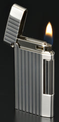 Sarome Flint Lighter SD7-17 Silver half matt/ Stripe