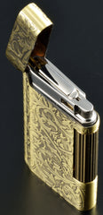 Sarome Flint Cigarette Lighter SD8-23 Antique brass arabesque