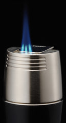 Sarome Flat Triple Torch  Cigar Cigarette TABLE Lighter  T3BM1-03 Silver/ Blue